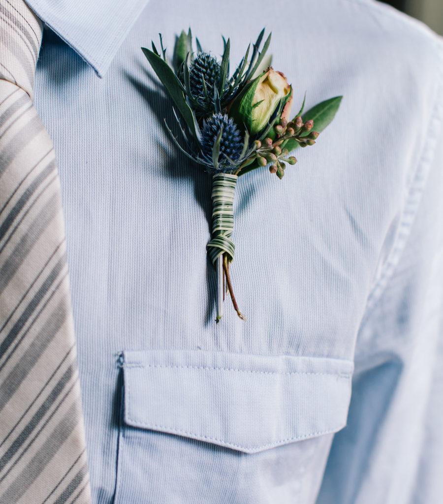 Artistic Boho Wedding I New Jersey Wedding Planner I Jersey Shore Wedding Planning I Boutonniere