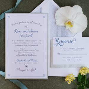 Deluxe Shore Wedding | Dee Kay Events ǀ Downtown Annapolis, MD | Carroll House I Custom Wedding Invites