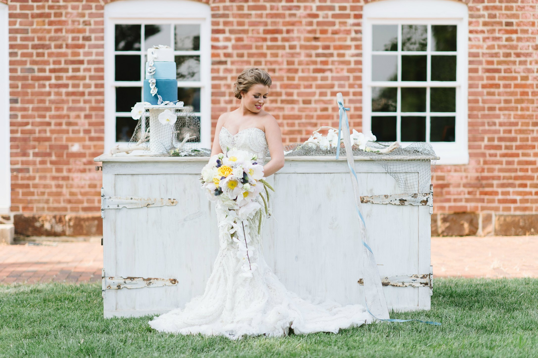 Luxe Shore Wedding | Dee Kay Events ǀ Downtown Annapolis, MD | Carroll House I Bridal Dress