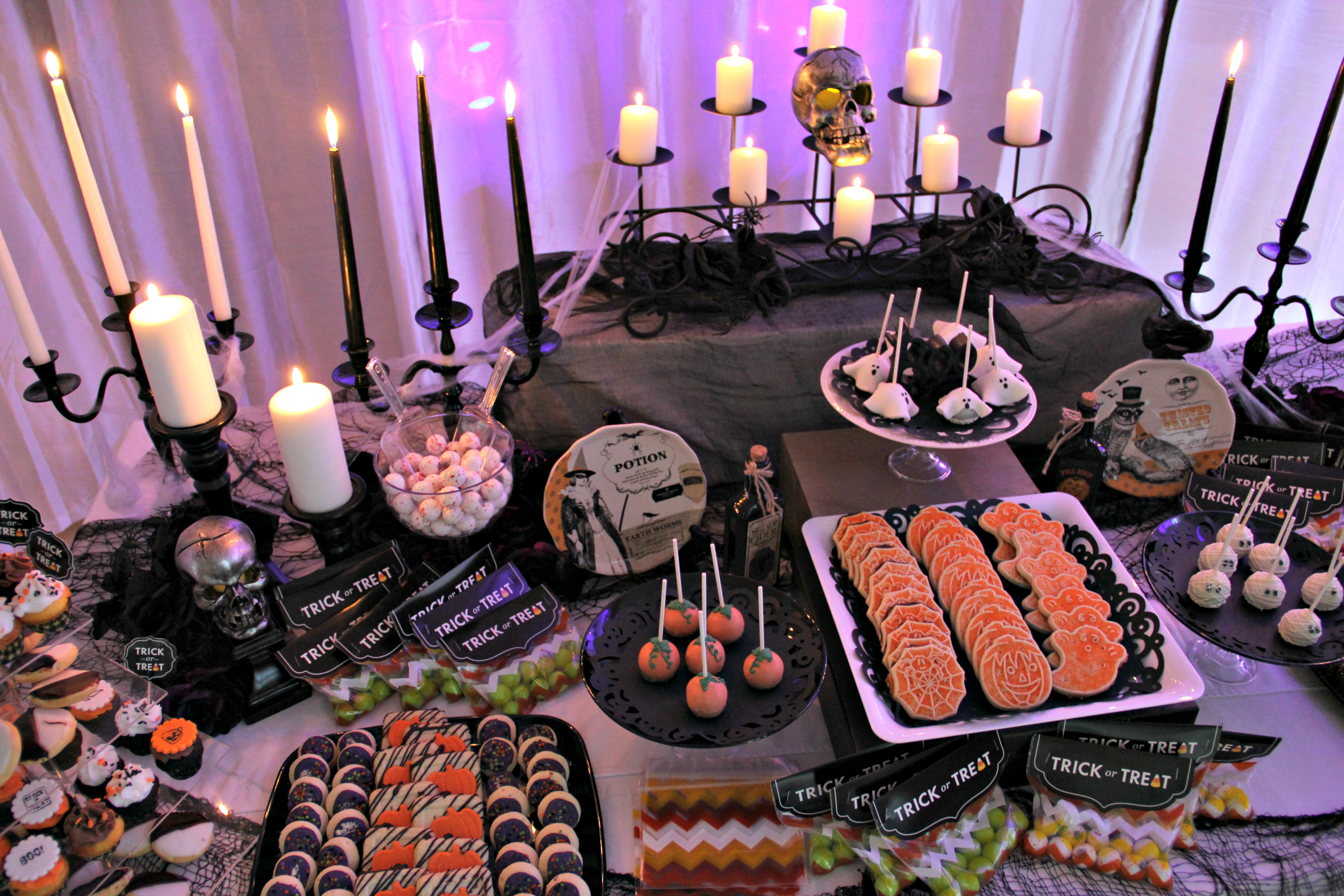 Spooktacular Dessert Table And Spooky Bar For Your Halloween Party