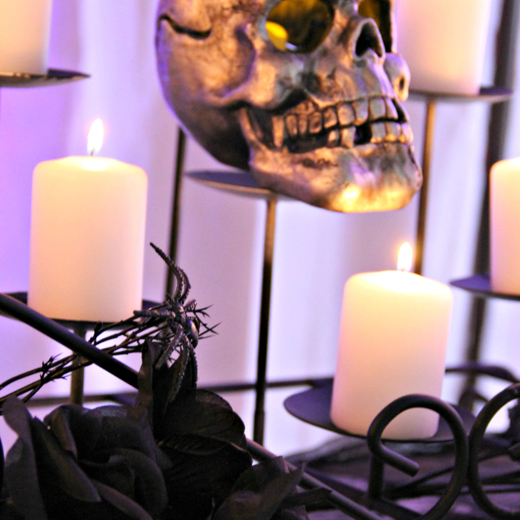 Dee Kay Events | Spooktacular Dessert Table Halloween Bar I Skull Candles